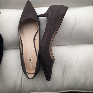 Grey kitten heel