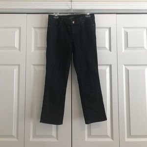 Dark Wash Cropped Pants