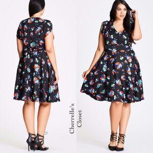 Nordstrom City Chic Floral Dress Plus Size 22 24
