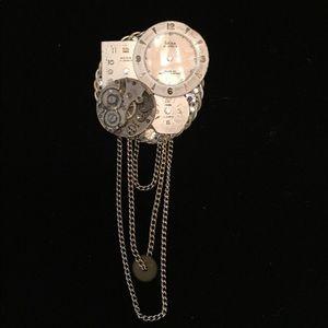 Jewelry - Clock Face Statement Brooch