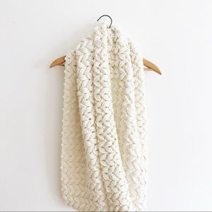 Forever 21, White Knit Infinity Scarf