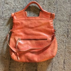 Foley + Corinna mid city tote distressed orange