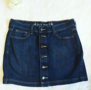Button front Jean Skirt