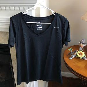 Black Nike V Neck Dri Fit Shirt