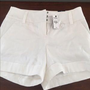 NWT express white shorts