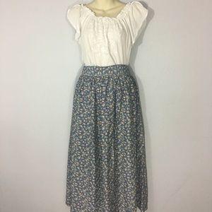 1980s floral midi skirt