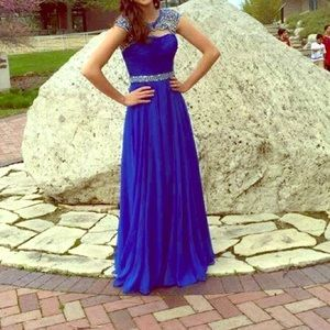 Sherri Hill Royal Blue Prom Dress