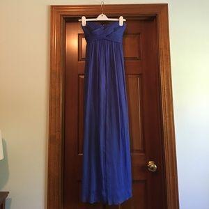 J. crew Chiffon blue maxi formal/prom dress