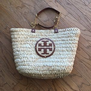 Tory Burch Natural Tote/Beach Bag
