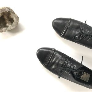 DV Dolce Vita black leather studded oxfords 7.5