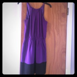 Express dress - purple with black trim on bottom