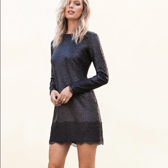 6d22a9ee Dress the Population Dresses | Host Picksequin Lace Long Sleeve Mini ...