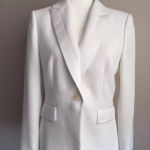 Tahari ASL LUXE White Blazer Jacket