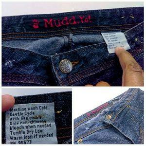 Mudd Jeans - HP Metalic Splattered RARE Mudd Jeans NWOT