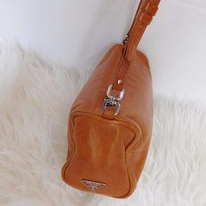 Authentic PRADA Tan Leather MINI Shoulder Bag