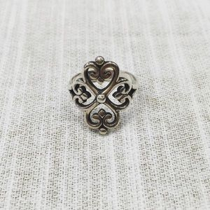 James Avery adorned hearts ring