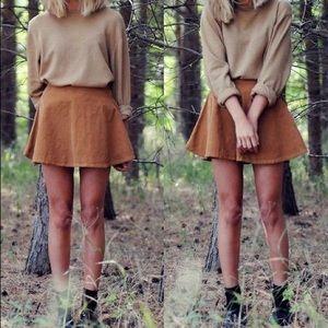 AA tan corduroy skirt