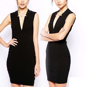 Tall ASOS Deep V Little Black Dress