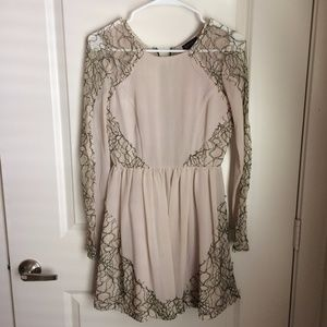 Topshop long sleeve lace holiday dress