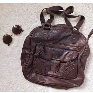 F21 Brown Leather Bag