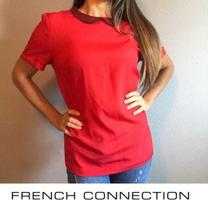 French Connection silky red blouse