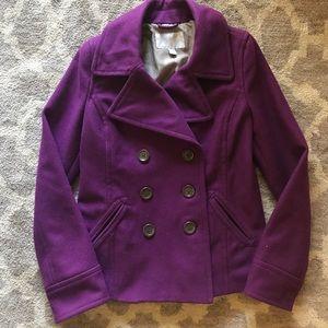 Old navy wool purple pea coat