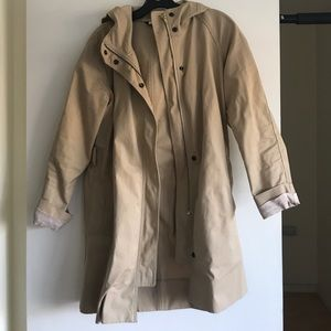 J Crew hooded trench/utility jacket
