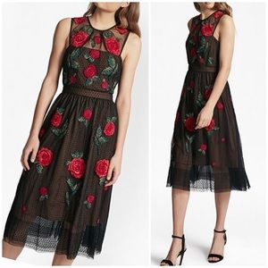 FRENCH CONNECTION Gorgeous Rose Midi Dress