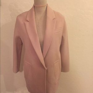 H&M Dusty Pink Coat Blazer Jacket Sz 2