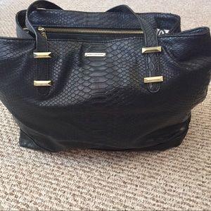 Rebecca Minkoff black tote 👜 handbag purse 👛
