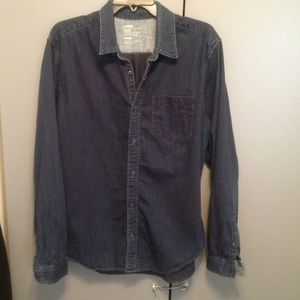 Men's denim button down!