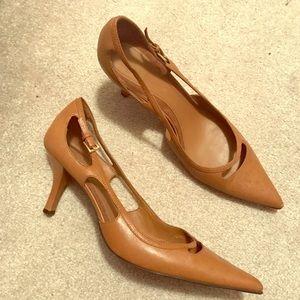 Women's cognac heel