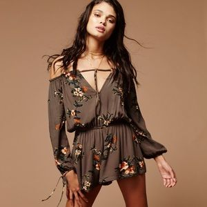 Free People Women's Green So Divine One Piece