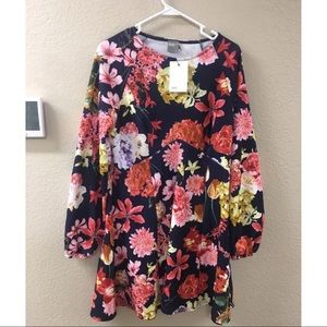NWT ASOS floral dress fit n flare size 14