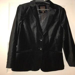Limited Black Velvet Two-button Jacket, L