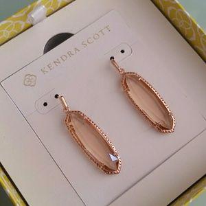 Kendra Scott Layla Earrings Peach Rose Gold