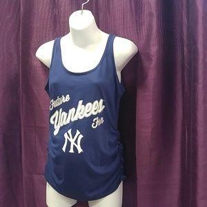 NY Yankees Fan Maternity Tank Top Small
