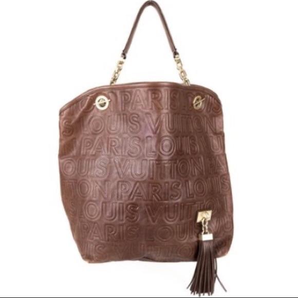 2590be320b LouisVuitton Paris Souple Whisper Brown Tote Bag