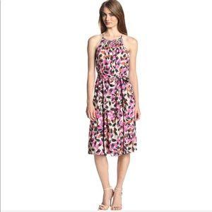 Twirl Waist Tie Midi Dress