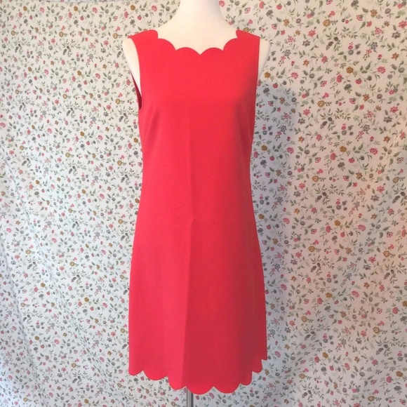 136cb2b3536 J. Crew Factory Dresses | J Crew Factory Scalloped Shift Dress Nwt 8 ...