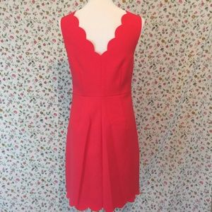 9ceeadf51f4 J. Crew Factory Dresses - J Crew Factory Scalloped Shift Dress NWT 8 Coral