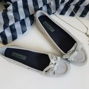 Sperry Top siders striped canvas boat shoes