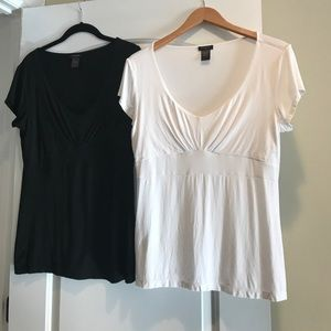 Ann Taylor short sleeve shirts (2)