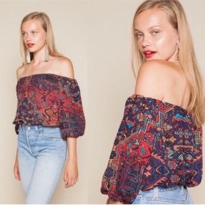 Stone cold fox silk crop top