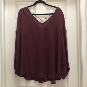 Plum flowy top
