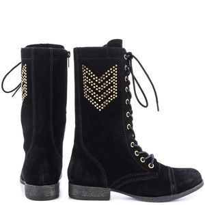 """👗betsey Johnson """"tempest"""" suede embellished boot"""