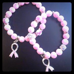 Think Pink awareness bracelets..