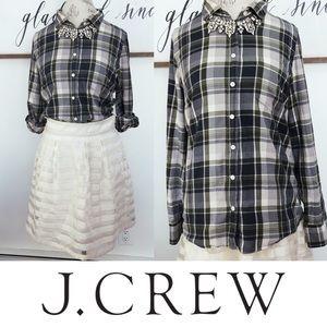 J.Crew 'The Perfect Shirt' Green Plaid