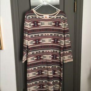 Super fun print sweater dress