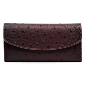 Handbags - Purple Ostrich Checkbook Wallet